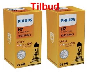 Philips H7 Vision restsalg så længe lager haves